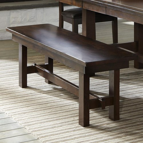 Intercon Kona Backless Dining Bench with Wood Seat