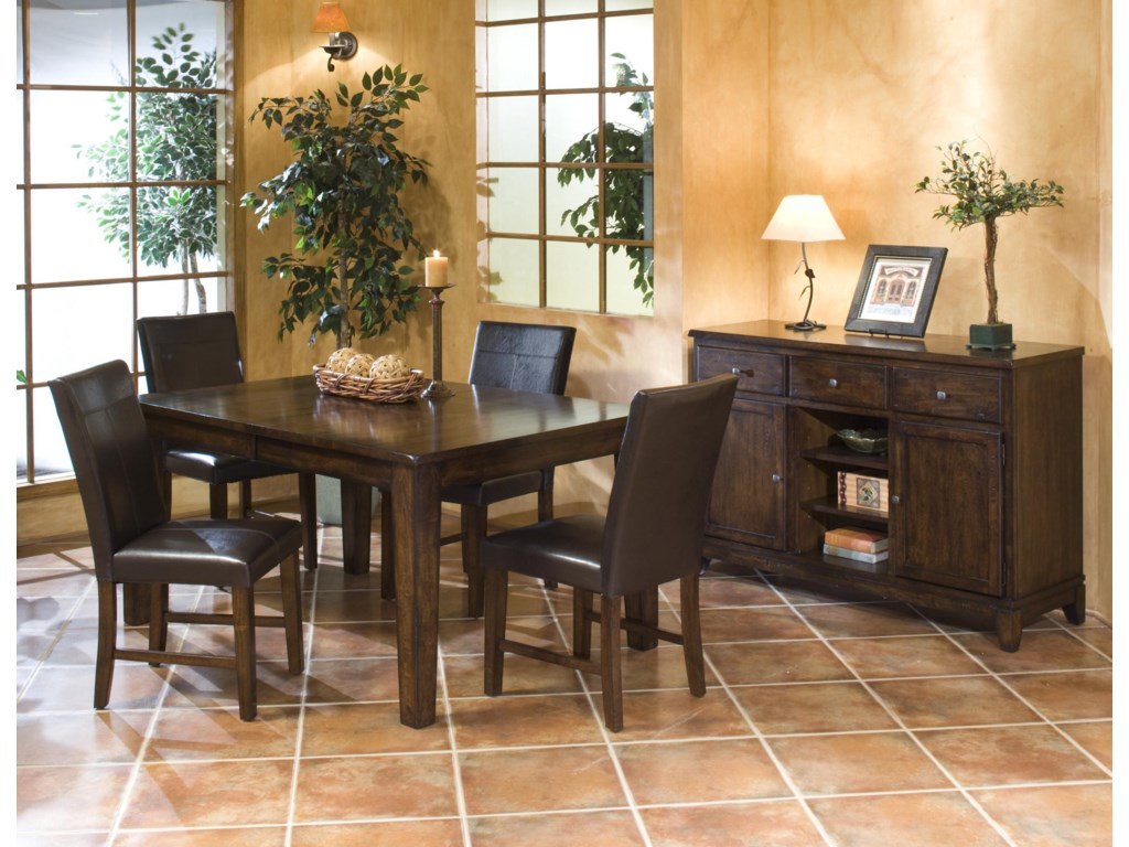 Shown in Room Setting with Dining Table and Server