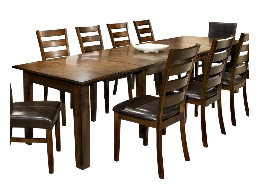 Intercon Kona Dining Table With Three Inch Leaves Hudsons - Dining table with 3 leaves