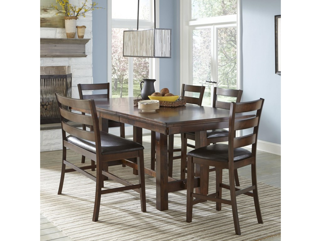 Kona Counter Height Dining Set With Bench By Intercon