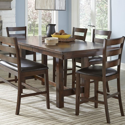 Intercon kona counter height table with leaf wayside furniture intercon kona counter height table with leaf watchthetrailerfo