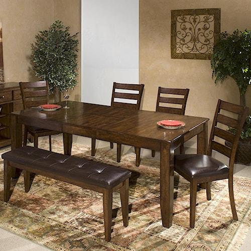 Belfort Select Cabin Creek 6 Piece Mango Wood Dining Room Set