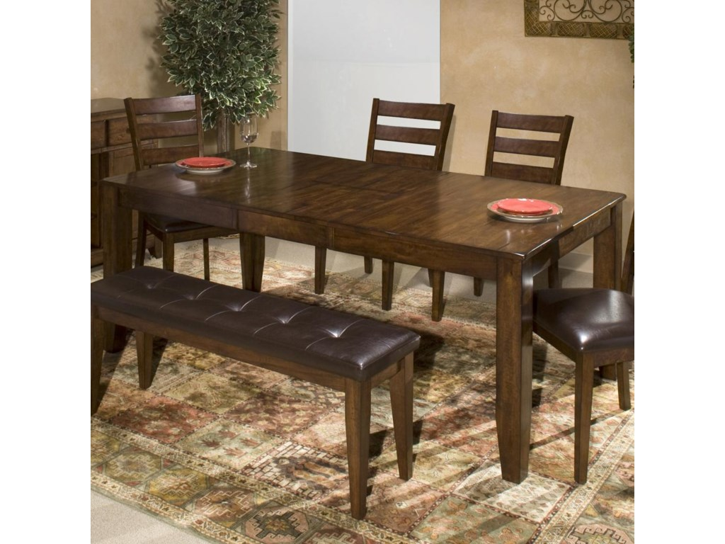 Belfort Select Cabin Creek Solid Mango Wood Dining Table with ...