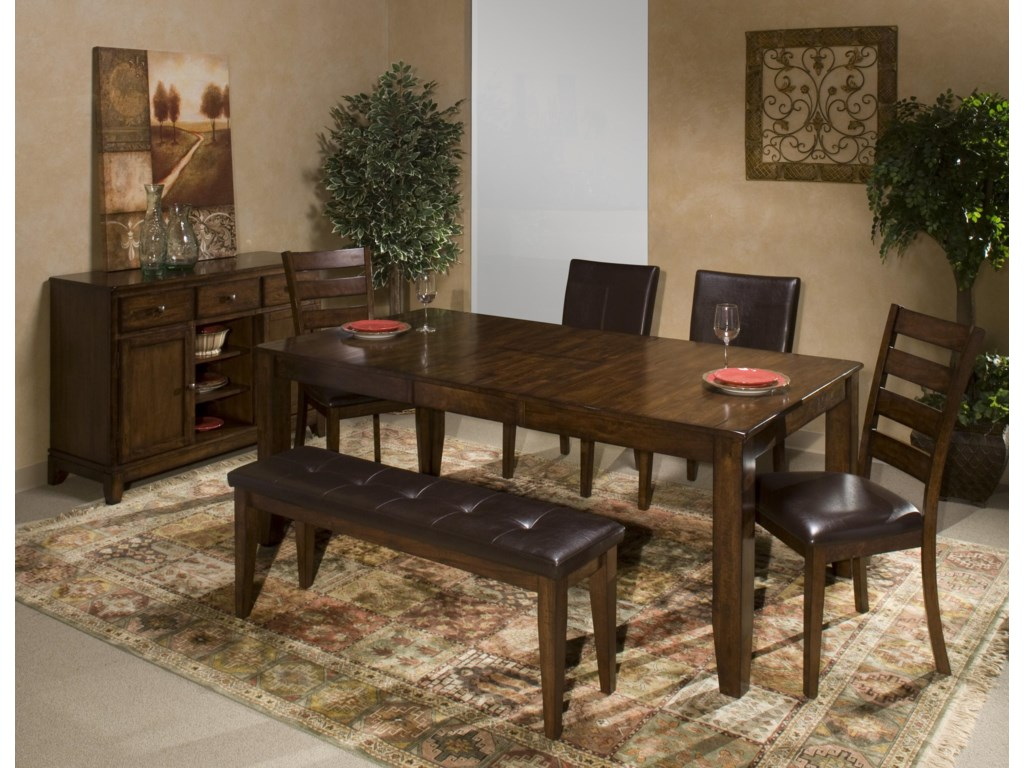 Belfort Select Cabin CreekDining Table with Butterfly Leaf