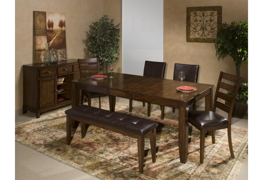 Kona Solid Mango Wood Dining Table with Butterfly Leaf by Intercon at  Fisher Home Furnishings