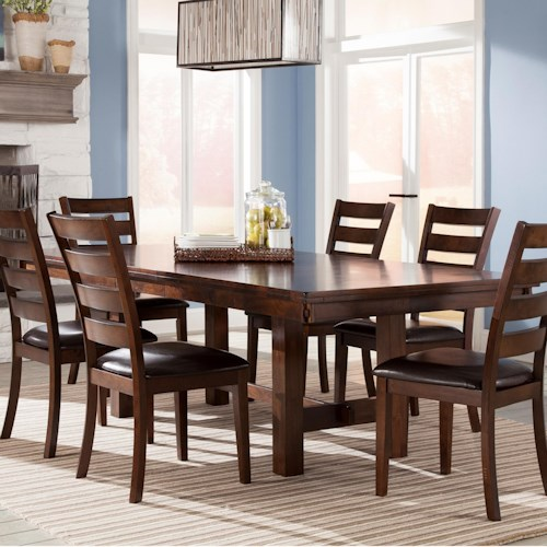 Intercon Kona Trestle Dining Table with Leaf | Wayside Furniture ...