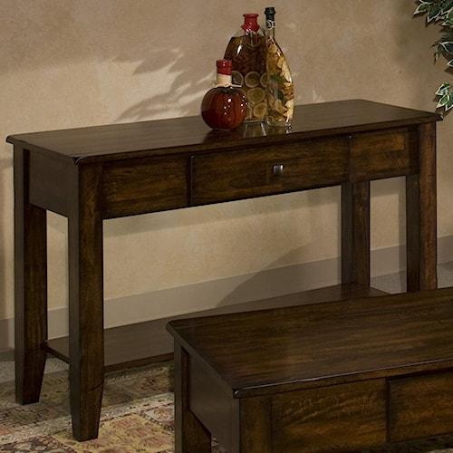 Belfort Select Cabin Creek Mango Wood Sofa Table