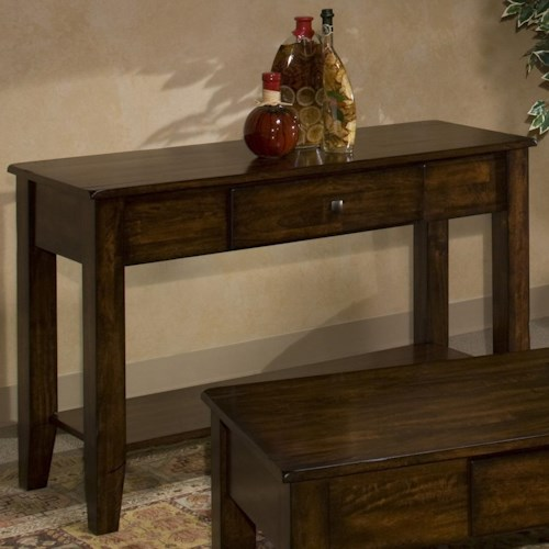 Intercon Kona Mango Wood Sofa Table