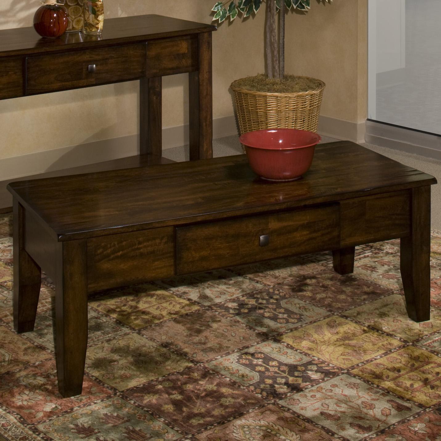 Belfort Select Cabin Creek Mango Wood Coffee Table   Belfort Furniture    Cocktail/Coffee Tables