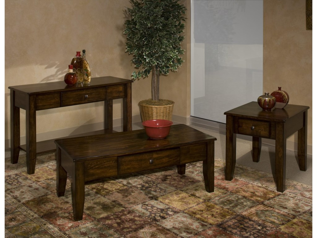 Shown in Expanded View with End Table and Sofa Table