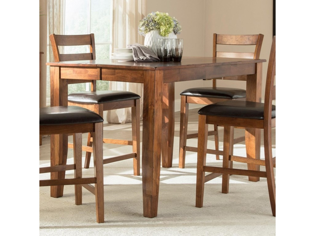 Kona Solid Mango Gathering Table with Butterfly Leaf by Intercon at Wayside  Furniture