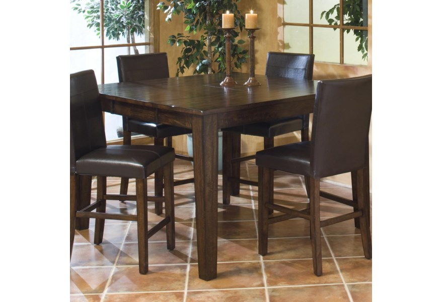 Kona Solid Mango Gathering Table with Butterfly Leaf by Intercon at Rife\'s  Home Furniture