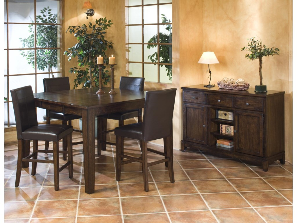 Intercon KonaGathering Table with Butterfly Leaf