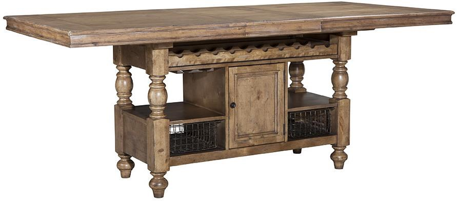 Intercon Lake House Counter Height Gathering Island Table with Storage  sc 1 st  Wayside Furniture & Intercon Lake House Counter Height Gathering Island Table with ...