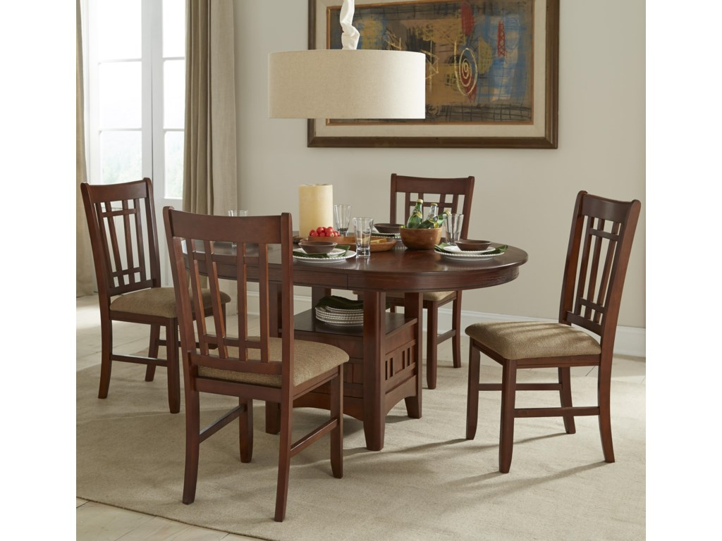 intercon mission casuals oval dining table set with cushioned side chairs old brick furniture dining 5 piece set. beautiful ideas. Home Design Ideas