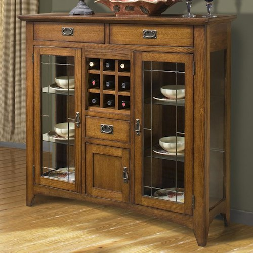 Intercon Mission Leopold 54-Inch Mission-Style Server w/ Glass Doors