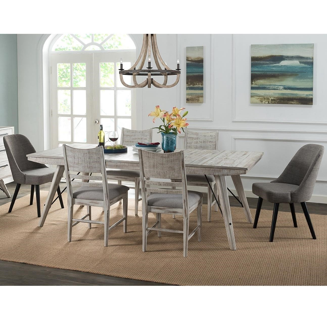 Intercon Modern Rustic 7 Piece Table And Chair Set