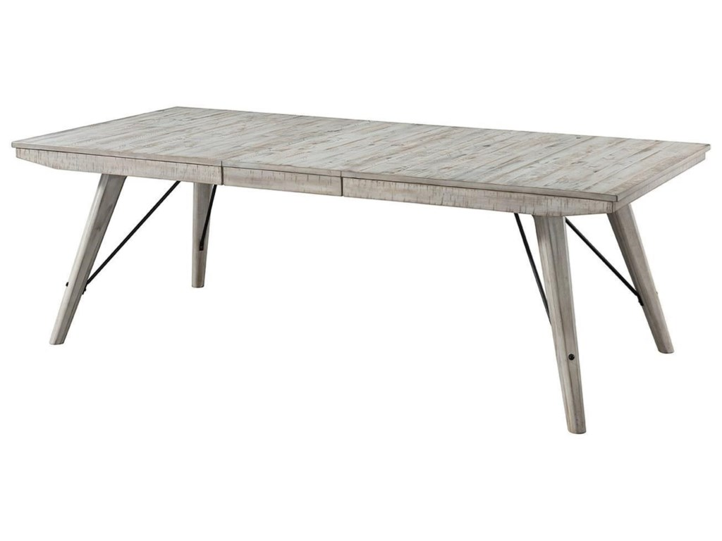5c89a0e3aad7 Intercon Modern Rustic Contemporary Rectangular Dining Table with Leaf  Extension