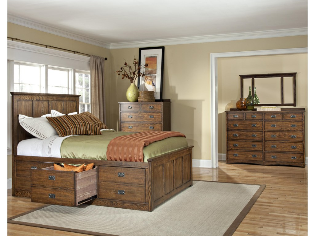 Shown with Storage Bed, Dresser, and Mirror