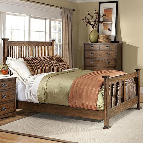 Intercon Oak Park Complete King Standard Slat Bed
