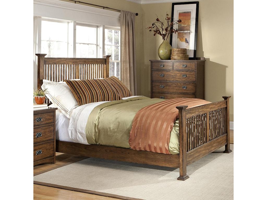 VFM Signature Oak ParkComplete Queen Bed