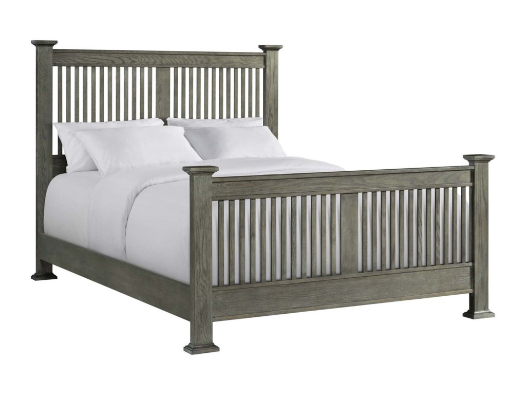 Intercon Oak Park PewterQueen Panel Bed