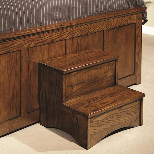 Intercon Oak Park Bed Step Stool