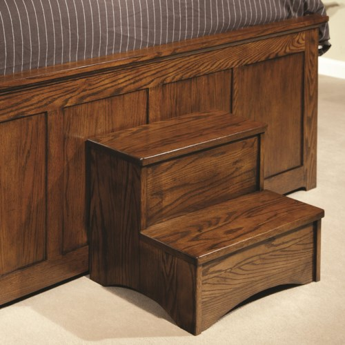 bedroom step stool intercon oak park bed step stool wayside furniture 10681