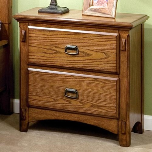 Intercon Pasadena Revival Two Drawer Nightstand With Metal