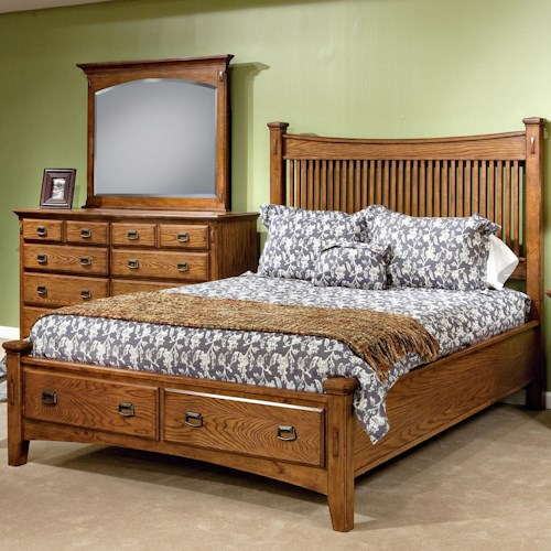 Intercon Pasadena Revival  King Panel Bed with Storage Footboard