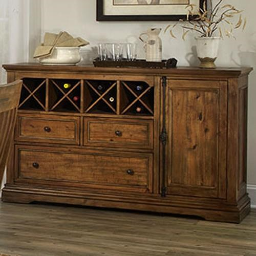 Belfort Select Loudoun Crossing Server with Removable Wine Rack