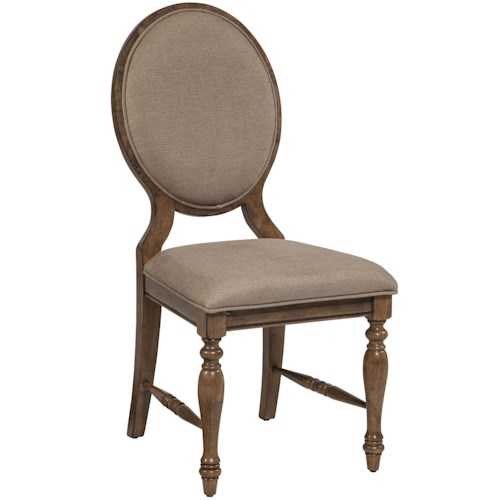 Belfort Select Loudoun Crossing Side Chair with Oval Upholstered Back