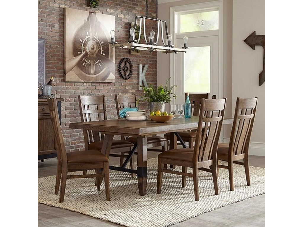 Intercon River 7 Piece Dining Table And Chair Set | Wayside Furniture | Dining 7 (or More) Piece Sets