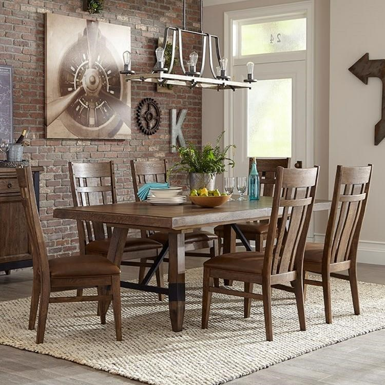 Intercon River 7 Piece Dining Table And Chair Set