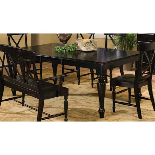 Intercon Roanoke Dining Table With Leaf Wayside Furniture Dining Room Table