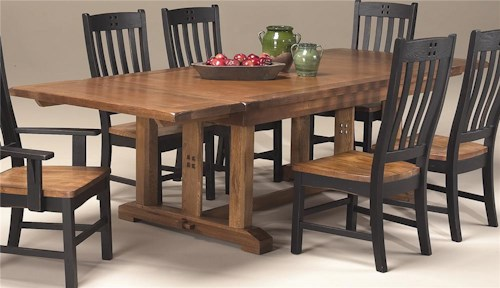 Intercon Rustic Mission Refectory Dining Table