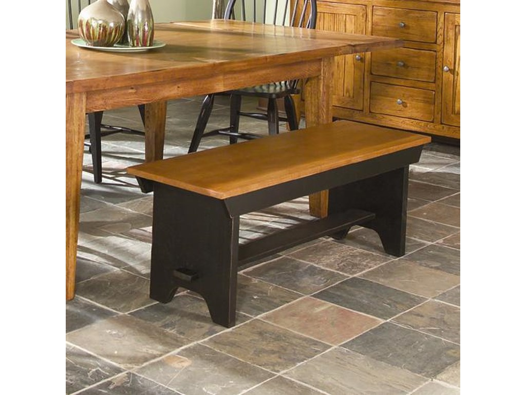 Intercon Rustic TraditionsBench with Wood Seat