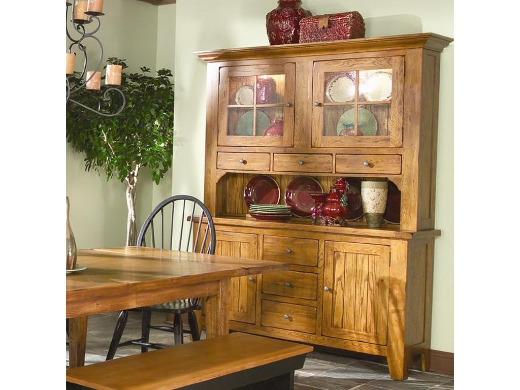 Intercon rustic traditionsdining china cabinet