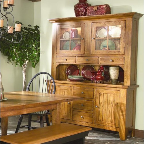 Intercon Rustic Traditions Dining China Cabinet With 62 Inch Hutch 60 Buffer