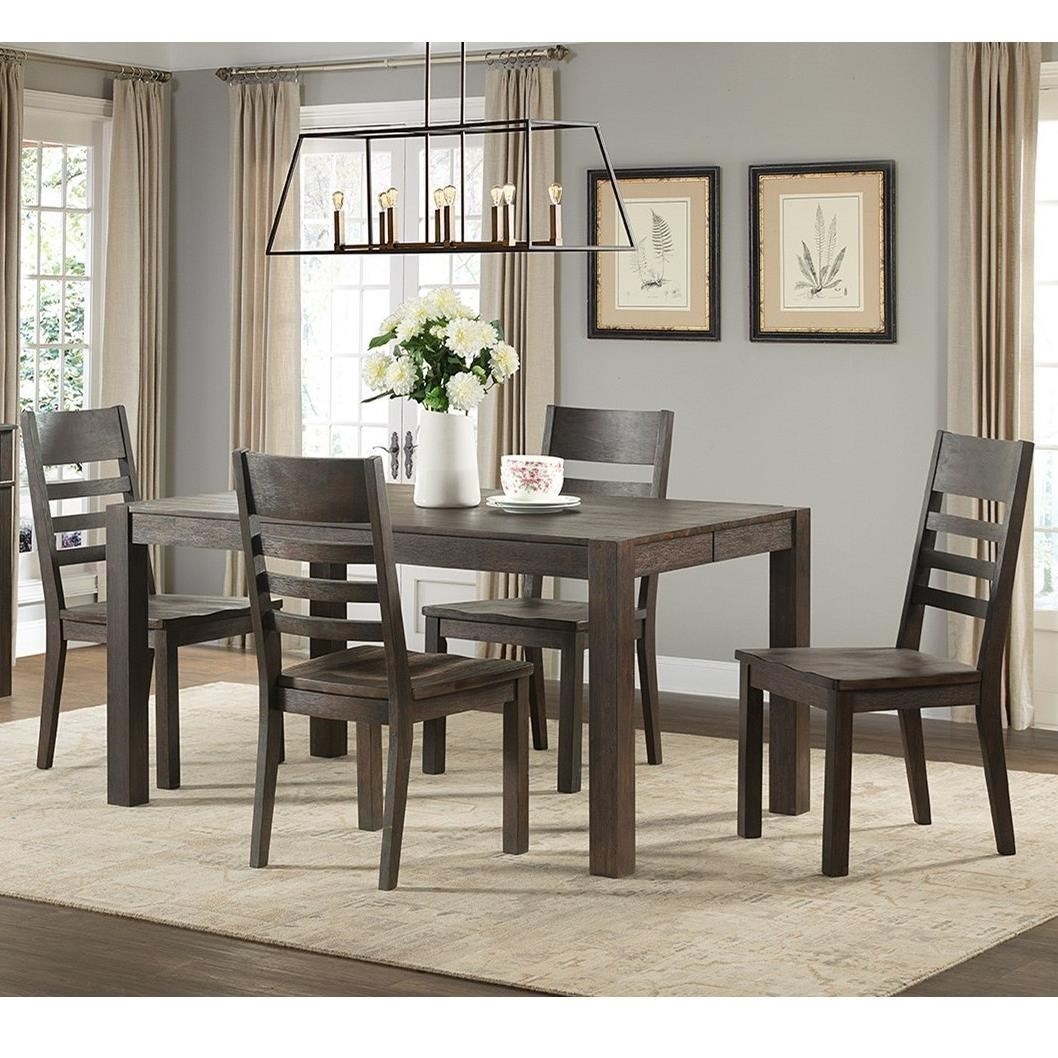 Intercon Salem 5 Piece Parsons Style Table And Chair Set
