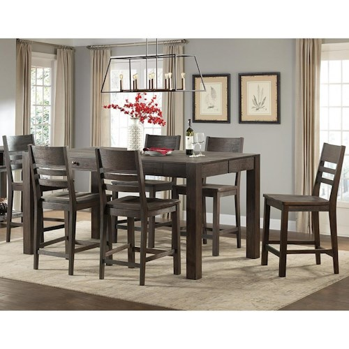 Intercon Salem Piece Parsons Style Gathering Height Table And Bar - Parsons pub table