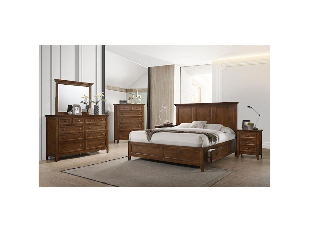 Intercon San MateoQueen Storage Bed