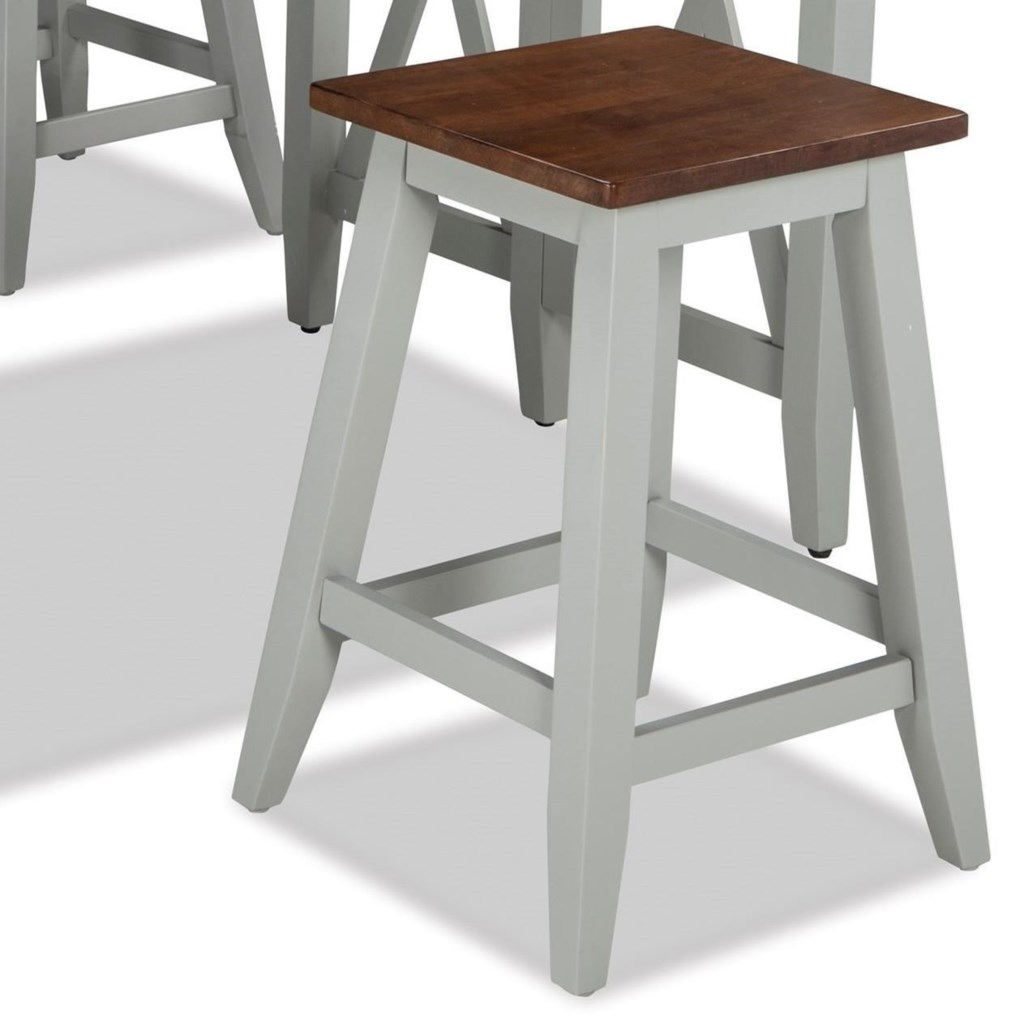 Intercon Small Space Two Tone 24 Counter Height Backless Barstool