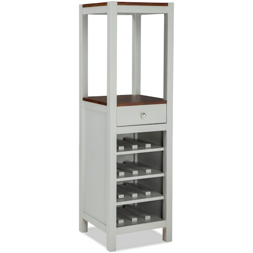 Intercon Small Space Vertical Wine And Dining Storage Cabinet