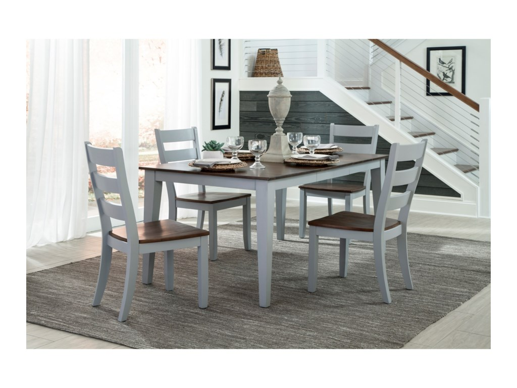 intercon small space 5 piece table and ladder back chair set old brick furniture dining 5 piece sets - Old Brick Dining Room Sets