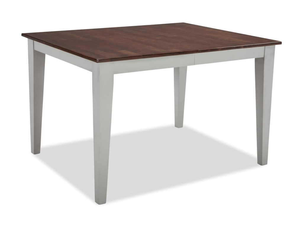 Small Space Two-Tone Rectangular Dining Table with Self-Storing Leaf by  Intercon at Wayside Furniture
