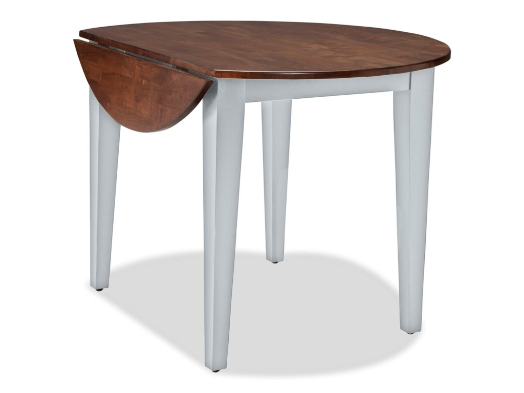 Intercon Small Space 42 Round Drop Leaf Table Wayside Furniture