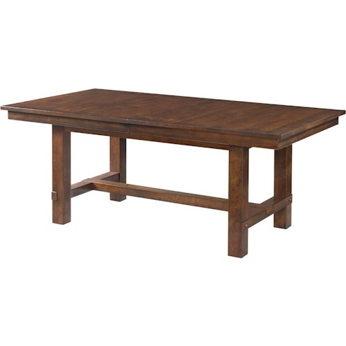 Intercon star valley trestle dining table with leaves for Furniture in bellingham wa