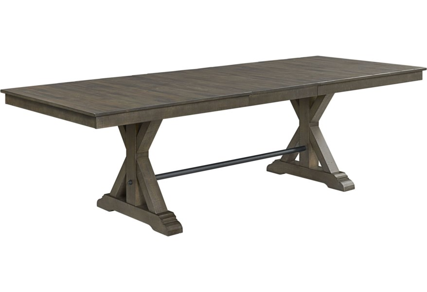 Sullivan Farmhouse Trestle Dining Table