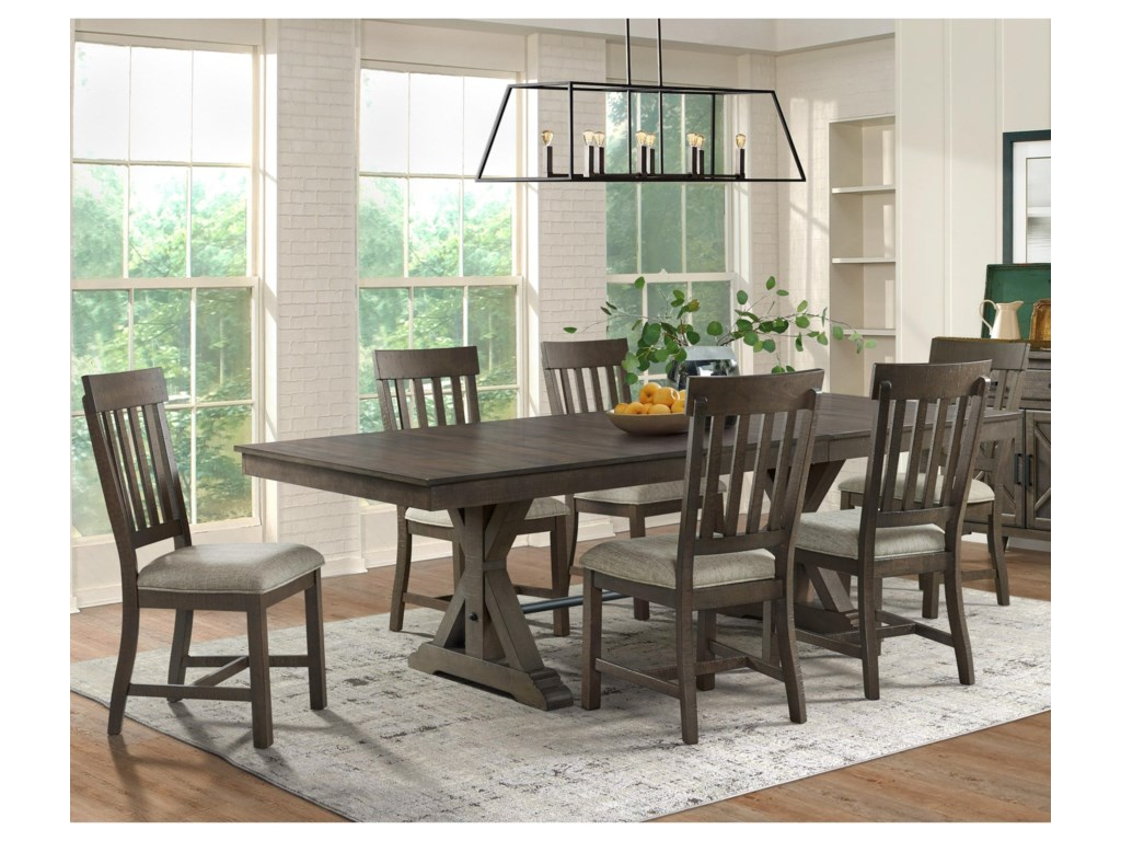Intercon Sullivan Farmhouse Table And Chair Set Wayside Furniture Dining 7 Or More Piece Sets